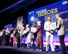 Inaugral Teaching Hero Awards 2014 - Some of the Teaching Heroes receiving their awards from the students